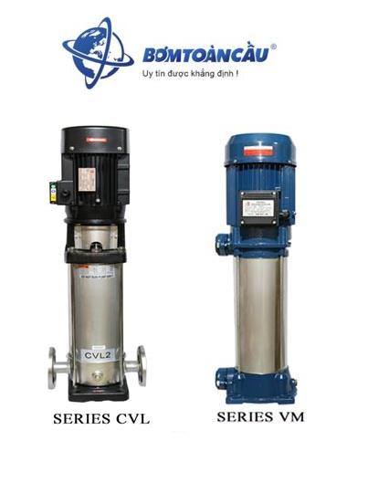 Máy bơm ly tâm trục đứng đa tầng cánh Ewara CVL/VM