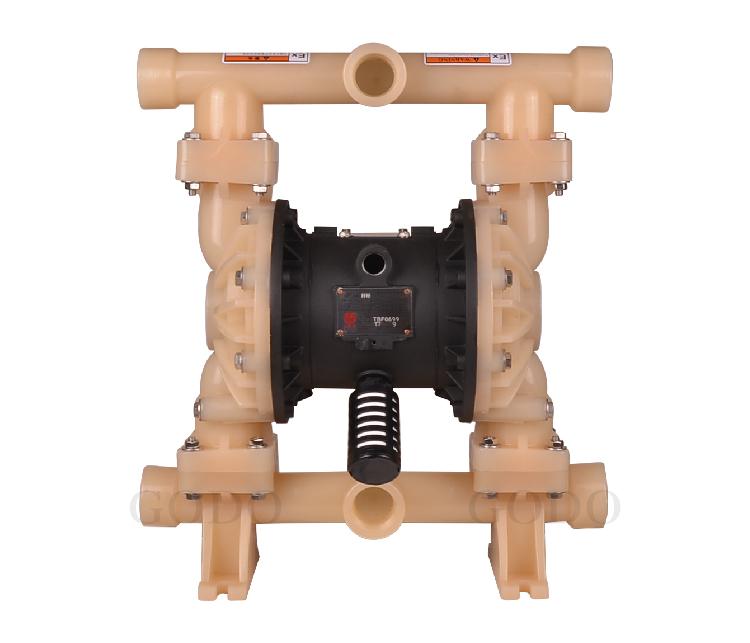 Máy bơm màng khí nén GODO QBY3-40F ( nhựa PVDF)
