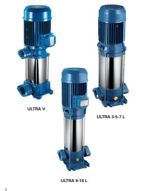 Máy bơm trục đứng đa tầng cánh Pentax ULTRA V/L