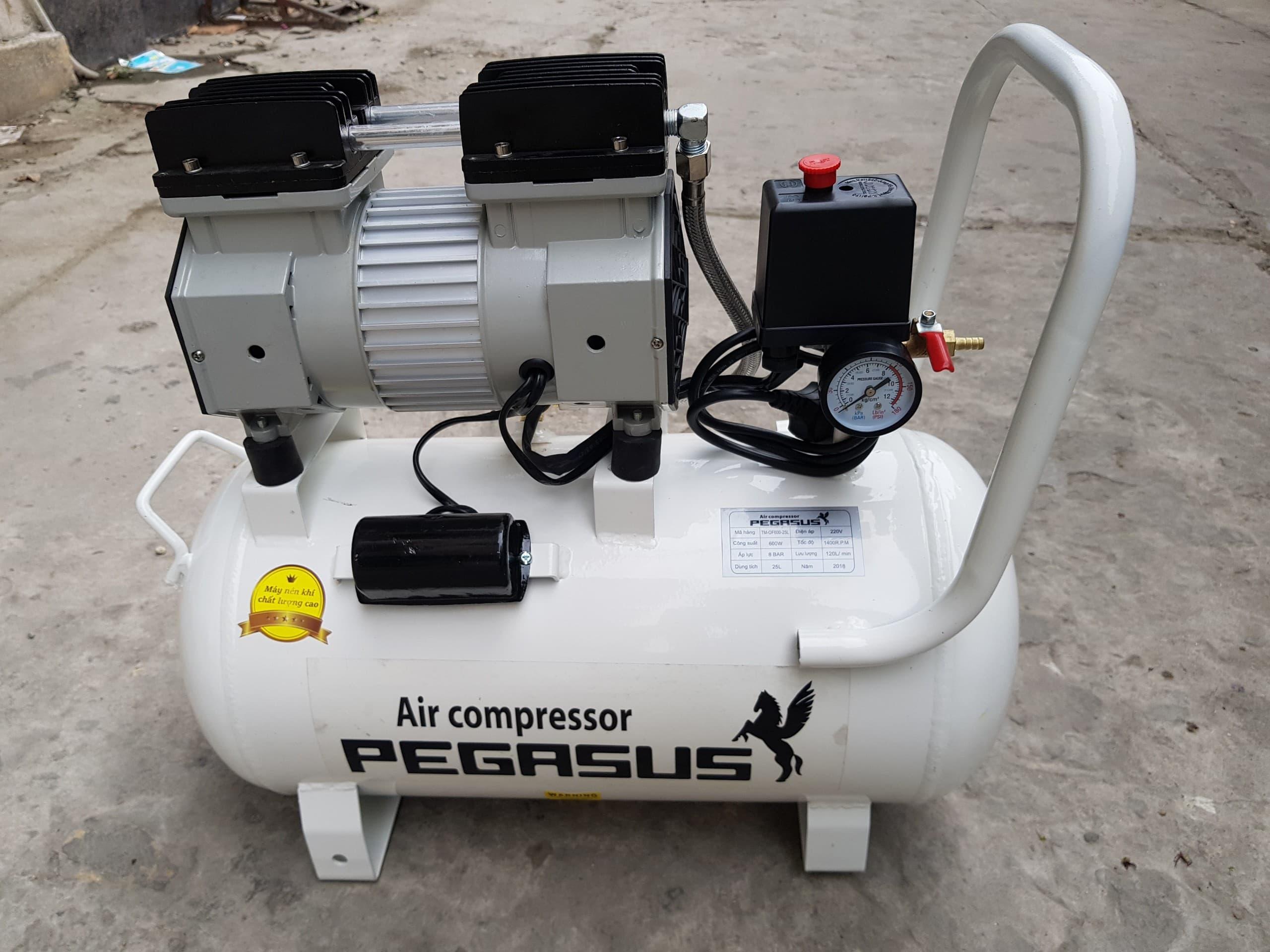 Máy nén khí không dầu giảm âm Pegasus TM- OF600- 25L
