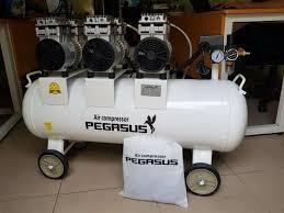 Máy nén khí không dầu giảm âm Pegasus TM- OF750x3- 120L