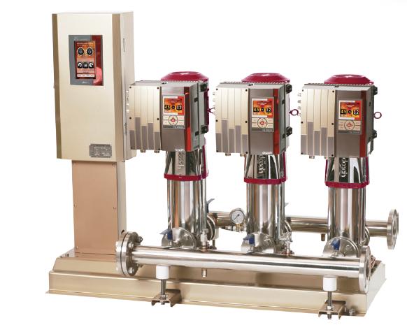 Hệ máy bơm tăng áp trực tiếp điều khiển biến tần Dooch model XQP