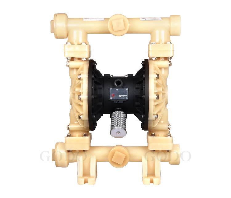 Máy bơm màng khí nén GODO QBY3-50F( thân nhựa PVDF)