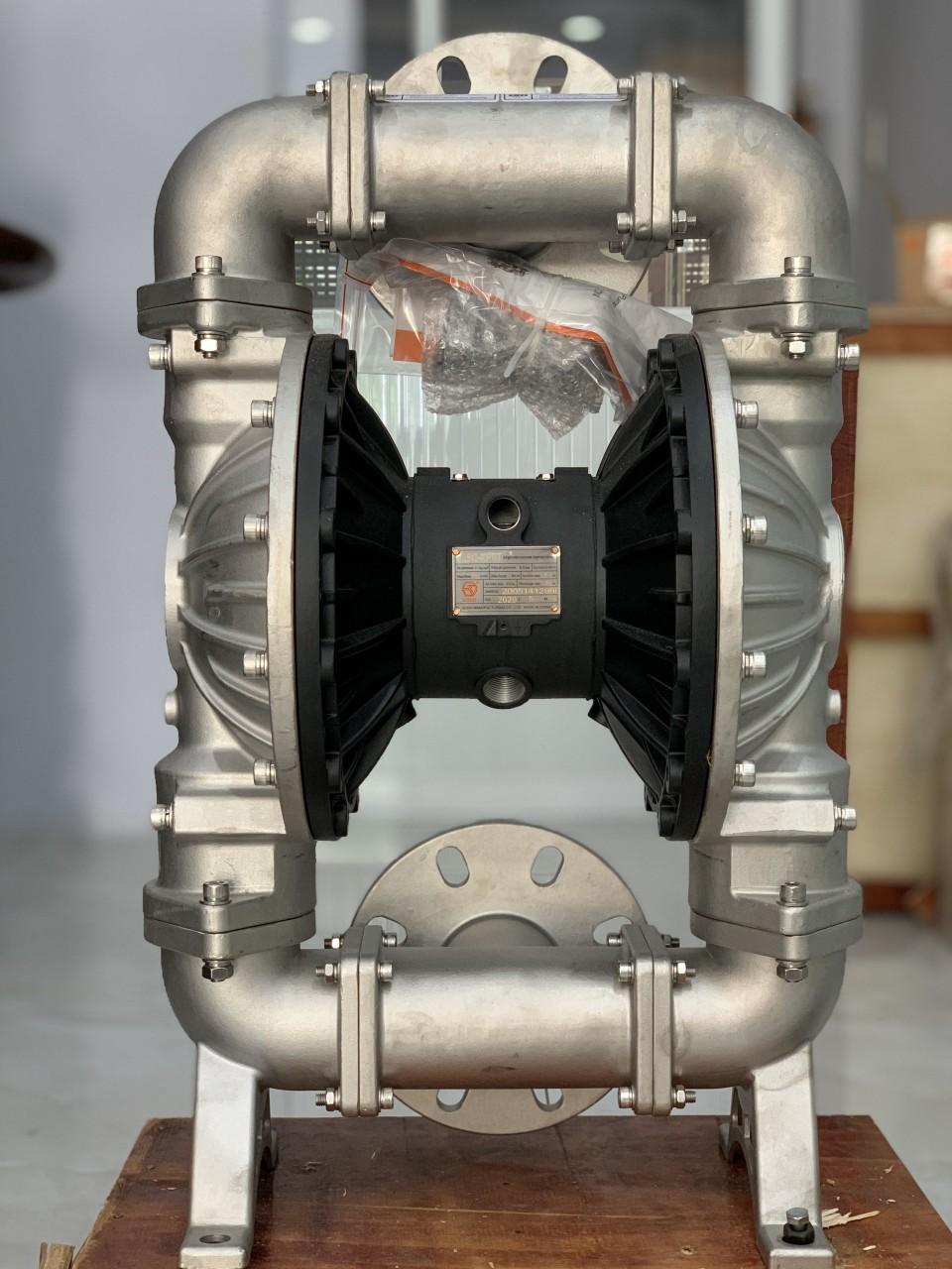 Máy bơm màng khí nén GODO QBY3-80P( thân inox)